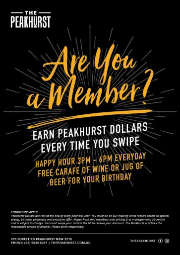 Are You A Member Call Out - The Peakhurst