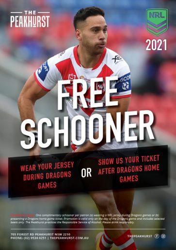 NRL Free Schooner Promotion 2021 - The Peakhurst