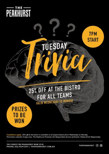 Weekly Tuesday Trivia - The Peakhurst