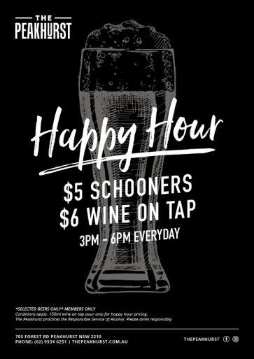 Beer Happy Hour - The Peakhurst