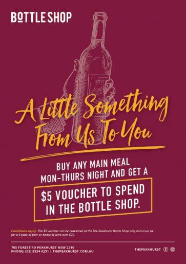 Bottle Shop Special Promotion - The Peakhurst